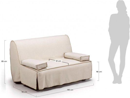 Laforma bedbank jolly creme 2 persoons la forma designwonen.com